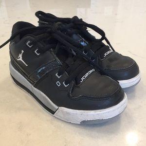 Black Jordan shoes. Little boys size 11.
